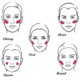 Applying blush that compliments your face shape: