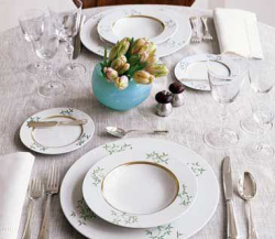 table setting for post